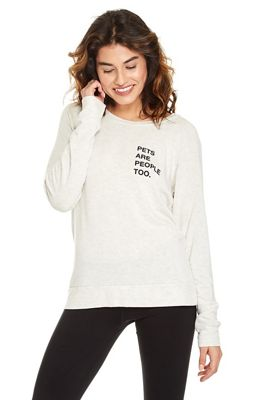 good hYOUman Women's Chelsea LS Boat Neck Pullover