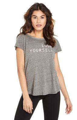 good hYOUman Women's Helen SS Round Hem Scoop Neck