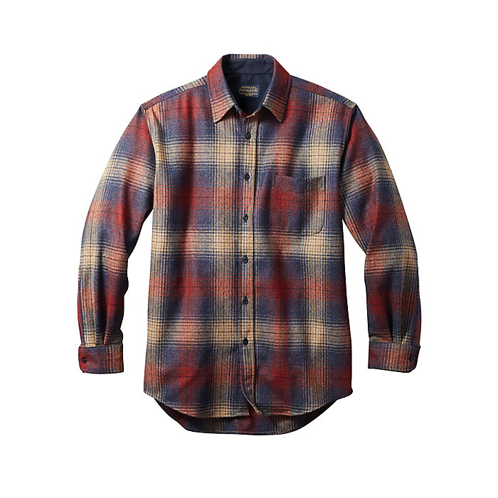 Pendleton Mens Long Sleeve Button Front Classic-fit Guide Shirt