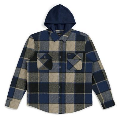 Brixton Men's Bowery Hood Long Sleeve Flannel