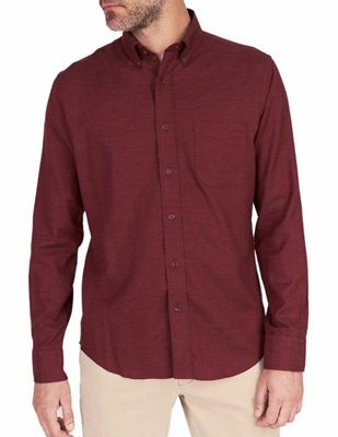 Faherty Melange Oxford Long Sleeve Shirt
