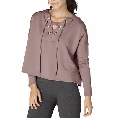 Beyond Yoga Women's Over Tied Cropped Pullover