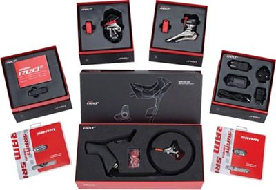 SRAM Red eTap Group with Hydraulic Flat Mount Disc Brakes and WiFli Rear Derailleur