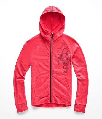 The North Face Girls' Tri-Blend Full Zip Hoodie