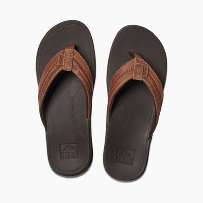 fc9eb8d9a956 Reef Men s Leather Ortho-Bounce Coast Sandal. BROWN