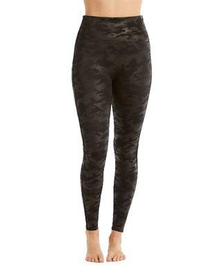 0b2592cfef5da Spanx Women's Faux Leather Camo Legging. BLACK
