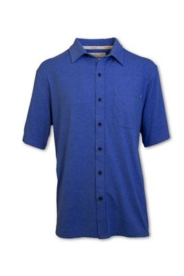 Purnell Men's Performance SS Knit Button Up Shirt