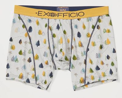 ExOfficio Men's Give-N-Go Sport Mesh Printed 6IN Boxer Brief