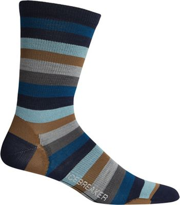 5cf3e11801 Icebreaker Men's Lifestyle Ultralight Cushion Stripe Crew Sock
