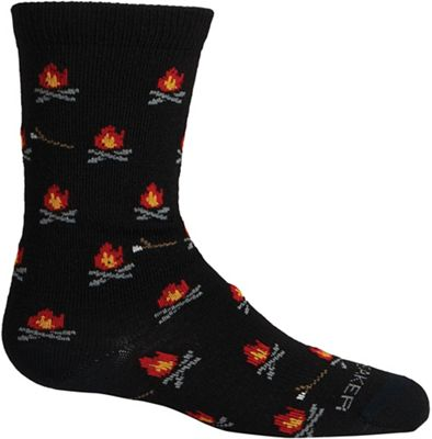 Icebreaker Kids' Lifestyle Ultra Light Cushion Campfires Crew Sock