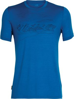 Icebreaker Men's Tech Lite SS Crewe Coronet Peak