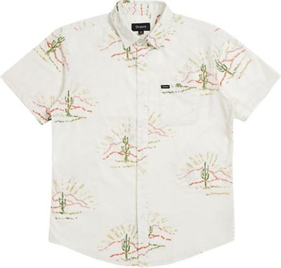 Brixton Men's Charter Print S/S Woven Shirt