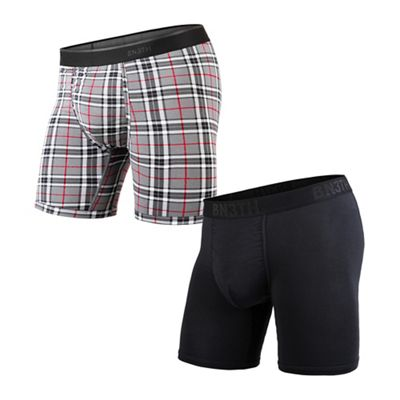 BN3TH Men's Classic Solid Boxer Brief 2 Pack