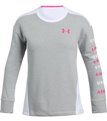 Under Armour Girls' Rival Terry Crew Neck Top