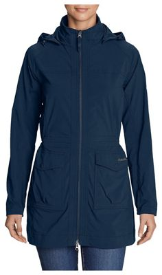 763c24cec1 Eddie Bauer Travex Women's Atlas 2.0 Trench Coat. BLUE; BLACK; BLACK