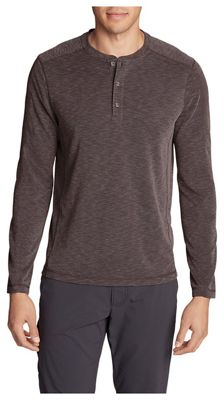 Eddie Bauer Travex Men's Contour Long Sleeve Henley Shirt