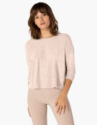 Beyond Yoga Women's Morning Lightweight Cropped Pullover