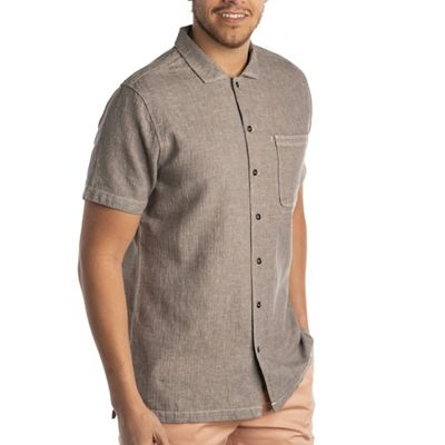 Jeremiah Men's Artemis Linen Cotton Herringbone Top