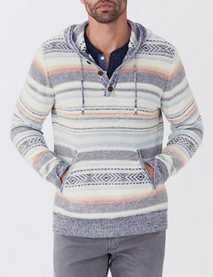 Faherty Men's Baja Sweater Poncho