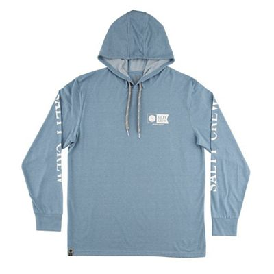 Salty Crew Men's Alpha Refuge Hood Tech Tee