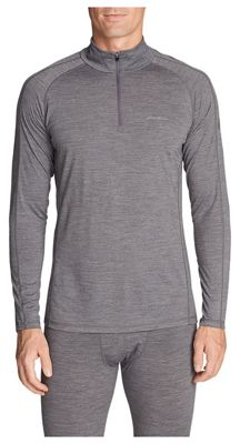 Eddie Bauer First Ascent Men's Midweight Freedry Merino Hybrid 1/4 Zip Up