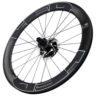 HED Vanquish 6 Carbon Clincher Disk Brake Thru Axle with Black Decals - Rear