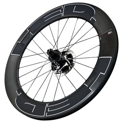 HED Vanquish 8 Carbon Clincher Disk Brake Thru Axle with Black Decals - Rear