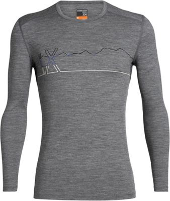 Icebreaker Men's 200 Oasis LS Crewe Single Line Ski Top