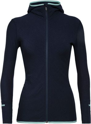 Icebreaker Women's Descender LS Zip Hoody
