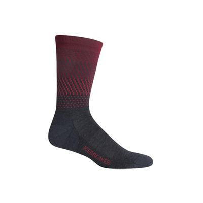 Icebreaker Men's Lifestyle Light Crew Ombre Stripe Sock