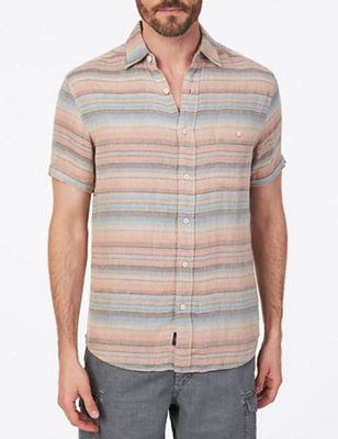 Faherty Men's SS Doublecloth Coast Shirt