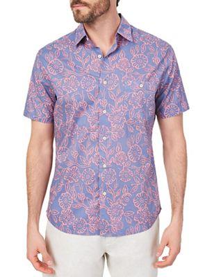 Faherty Men's SS Reversible Print Coast Shirt