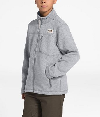 The North Face 100WT Glacier Youth Girls Full Zip Fleece Hoodie Retro Green