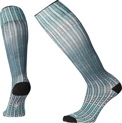 Smartwool Women's Compression Virtual Voyager Printed Over The Calf Sock