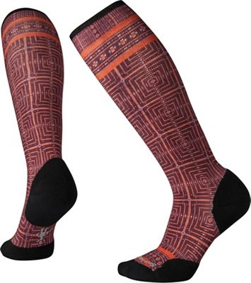 Smartwool Women's Compression Cruise Director Printed Over The Calf Sock