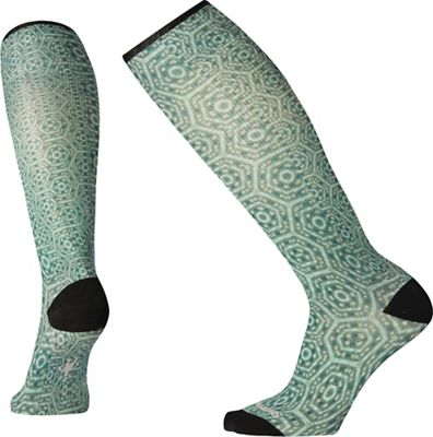 Smartwool Women's Compression Hexa-Jet Printed Over The Calf Sock