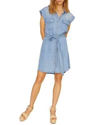 Sanctuary Women's Dusty Sleeveless Shirt Dress