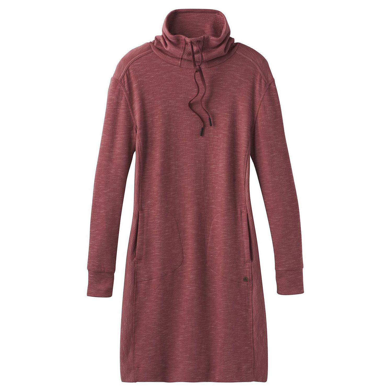 prAna Womens Sweater Dress Medium Shift Drawstring Hoodie