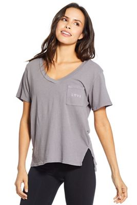 good hYOUman Women's Ivy Vneck Pocket SS Top