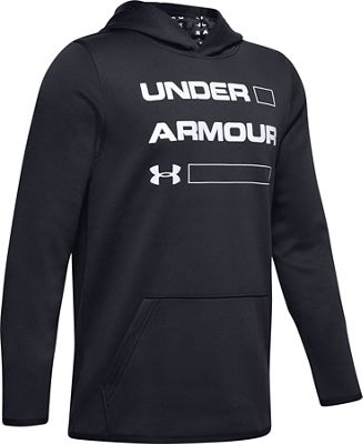 Under Armour Boys' Armour Fleece Wordmark Hoodie