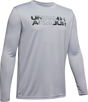 Under Armour Boys' Big Logo Printed Fill LS Top