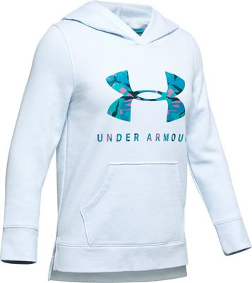 Under Armour Girls' Rival Printed Fill Logo Hoodie