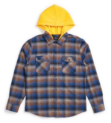 Brixton Men's Bowery Hood LS Flannel