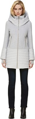 Soia & Kyo Women's Avery-N Mixed Media Coat