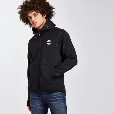 Timberland Men's Monogram Tree Logo Full Zip Hoodie
