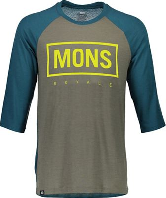 Mons Royale Men's Redwood 3/4 Raglan Box Tee