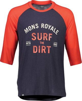Mons Royale Men's Redwood 3/4 Raglan T Surf Top