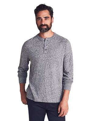 Faherty Men's Luxe Heather Henley