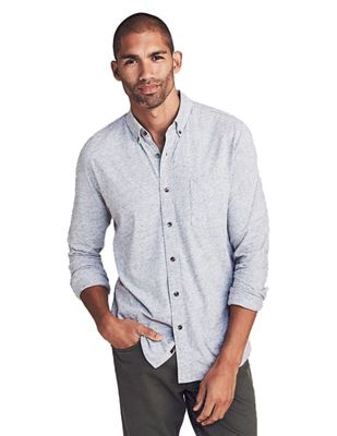 Faherty Men's Luxe Heather Knit Shirt