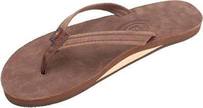 Rainbow Women's Narrow Strap Single Layer Leather Sandal